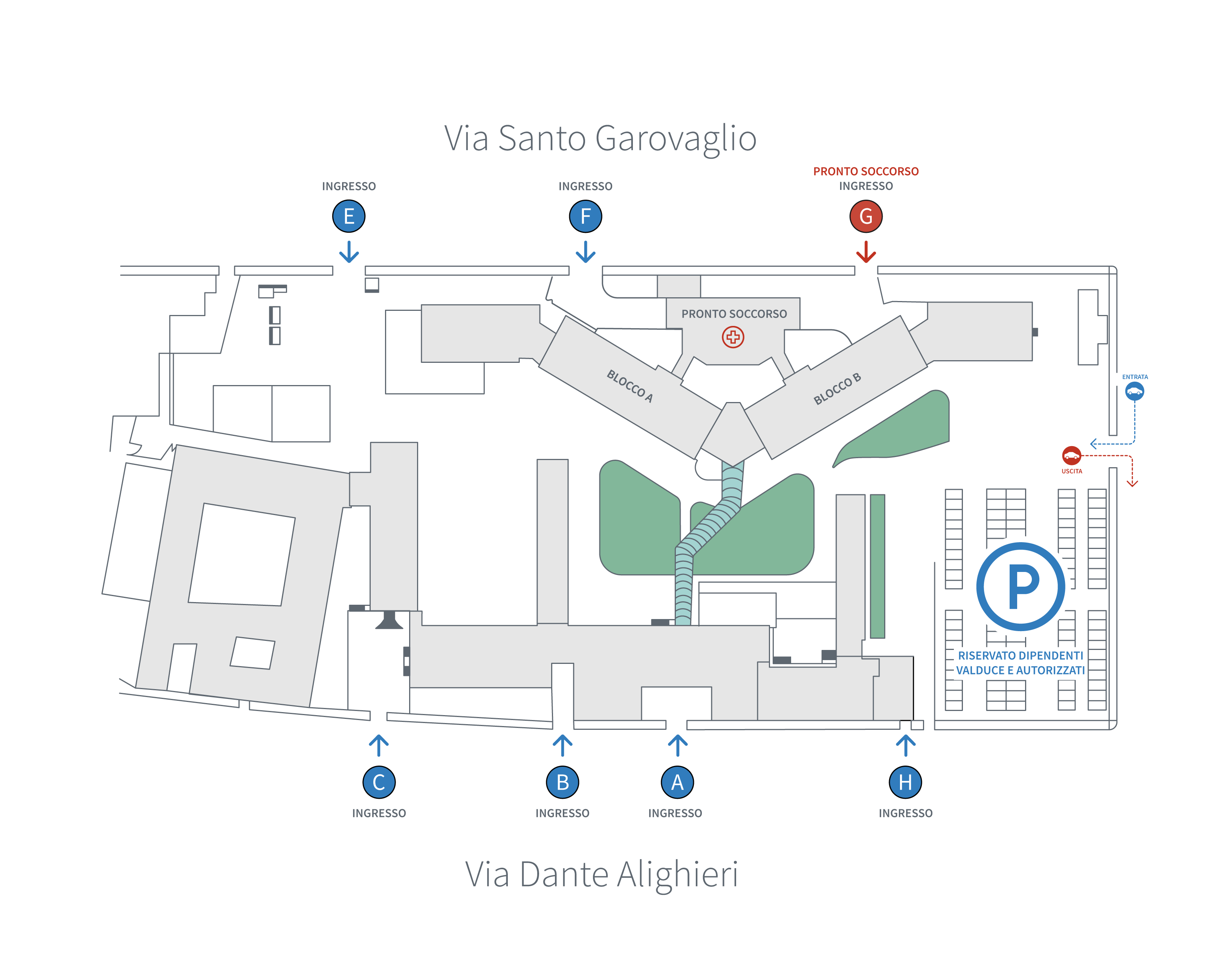 Mappa ospedale Valduce